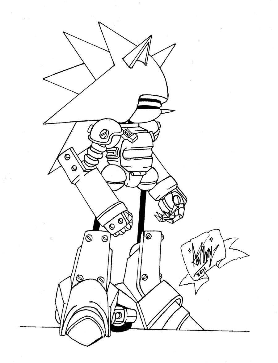Sonic Exe - Free Colouring Pages
