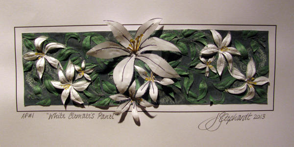 2013 03 19 White Clematis Panel 5X10 72ppi by Artdog53