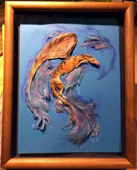 Aka-Bekko Dragon Framed