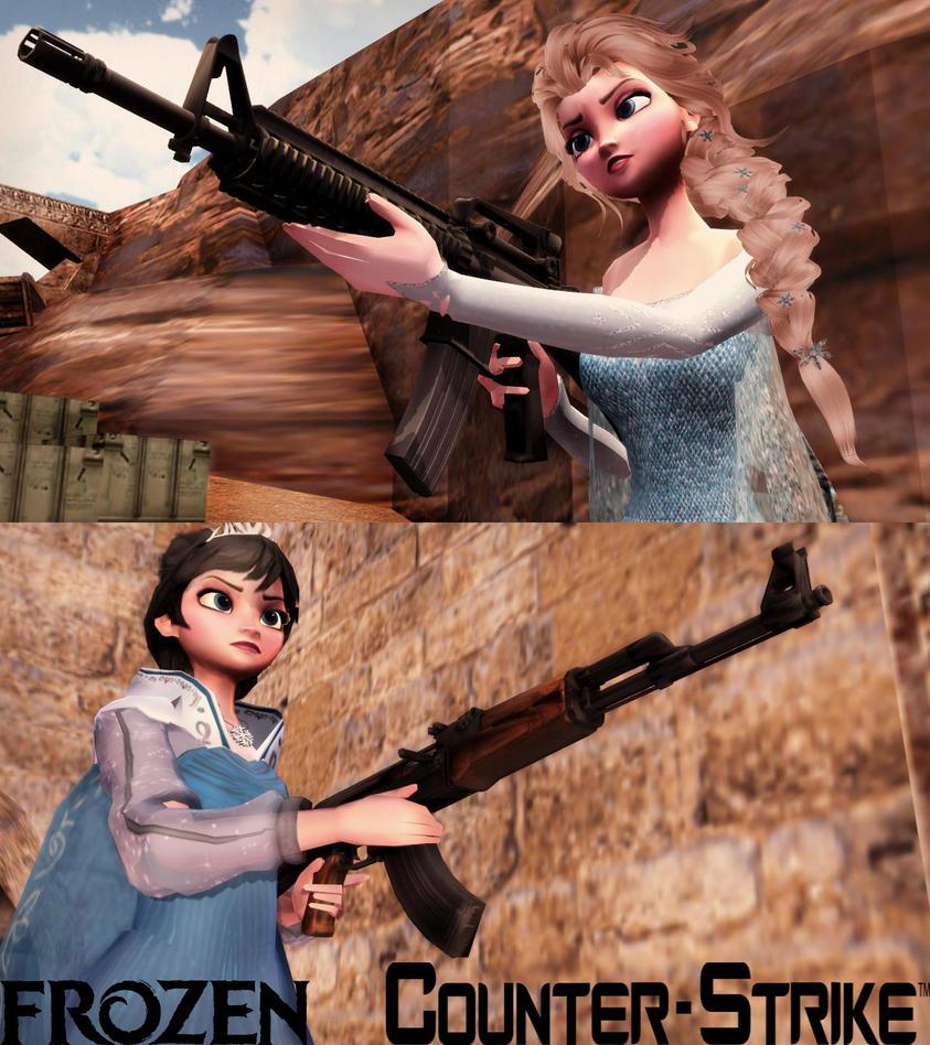 Frozen - Counter Strike (elsa vs evil elsa) by SimmerElsa
