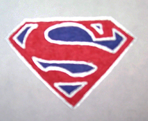 Superman Shield Drawing by SuperFlash1980