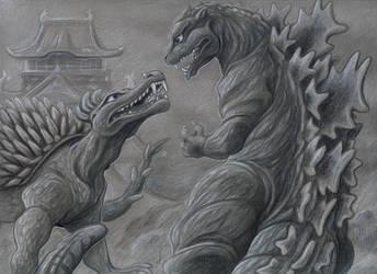 Godzilla Raids Again by fairy-mothra