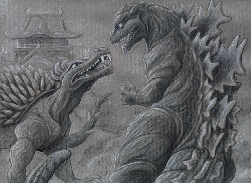 Dibujos Godzilla Raids Again 1955 Para Colorear: Godzilla Raids Again By Fairy-mothra On DeviantArt