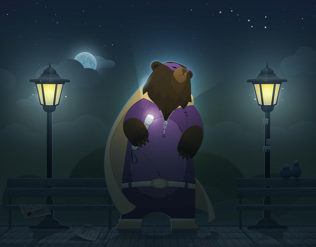 the master of the dark Park by Kotartem