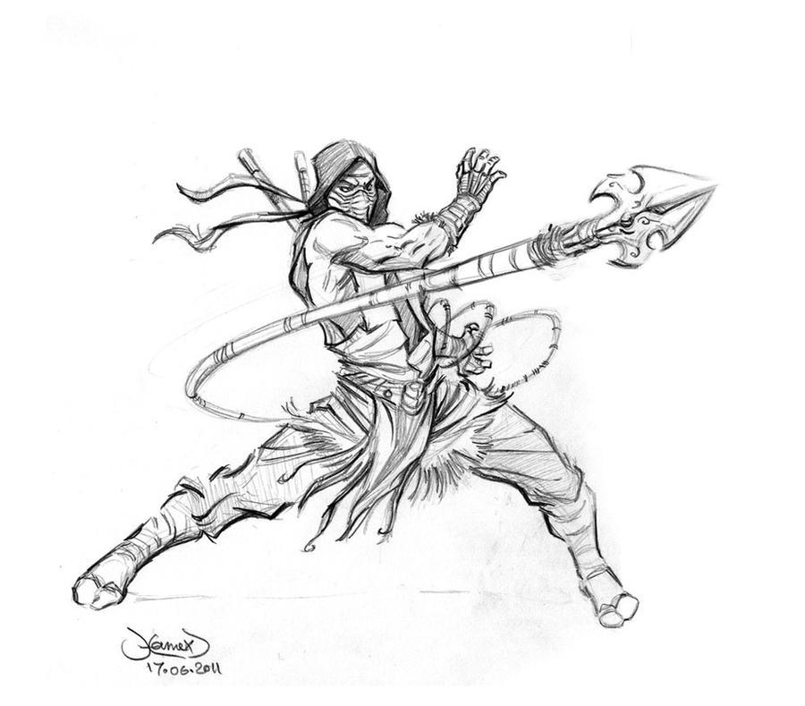 Scorpion-classic-sketch by hamex on DeviantArt
