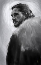 Jon Snow / Aegon Targaryen by AuberJean