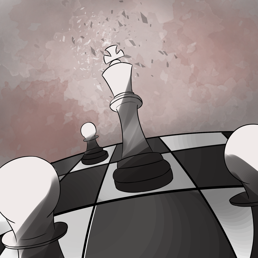 A King among his Pawns by Krazy-dog