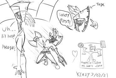 Ax Lady Doodles
