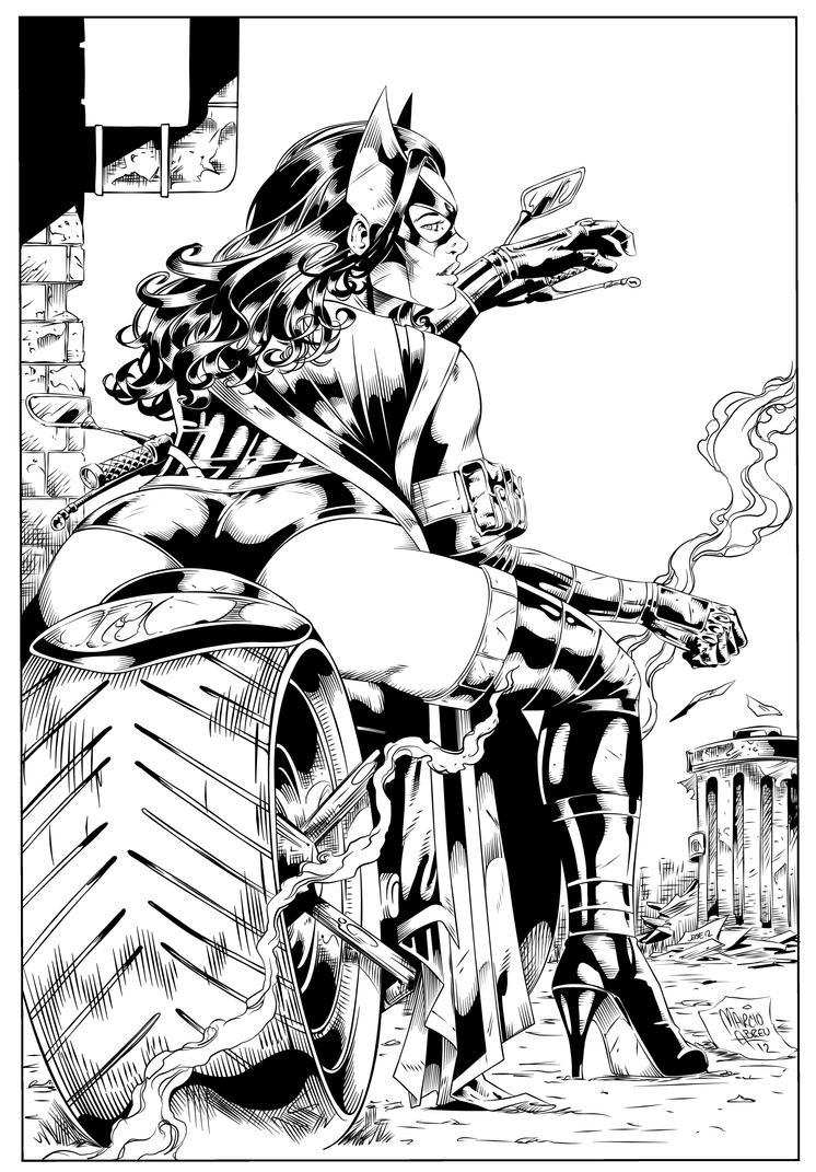 Huntress - M.Abreu - Inked by me. by JDB-Inks