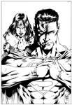 Wonder Woman and Superman Inks - M.Abreu.