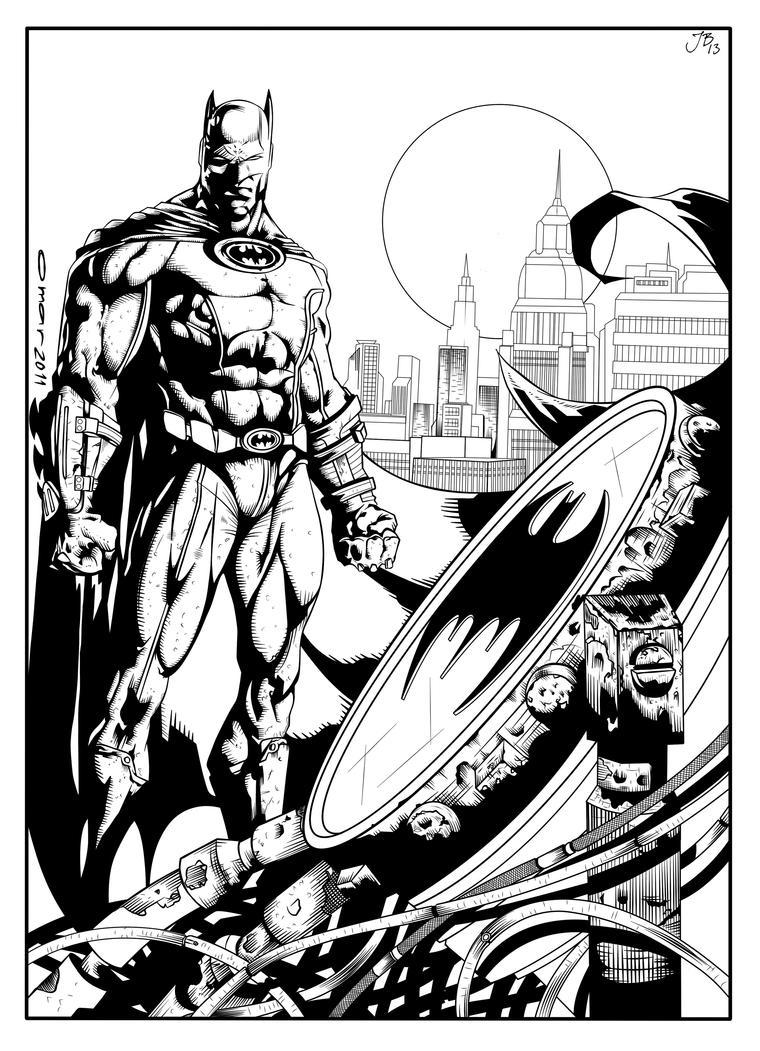 Batman - Omarmsamy - Inked. by JDB-Inks