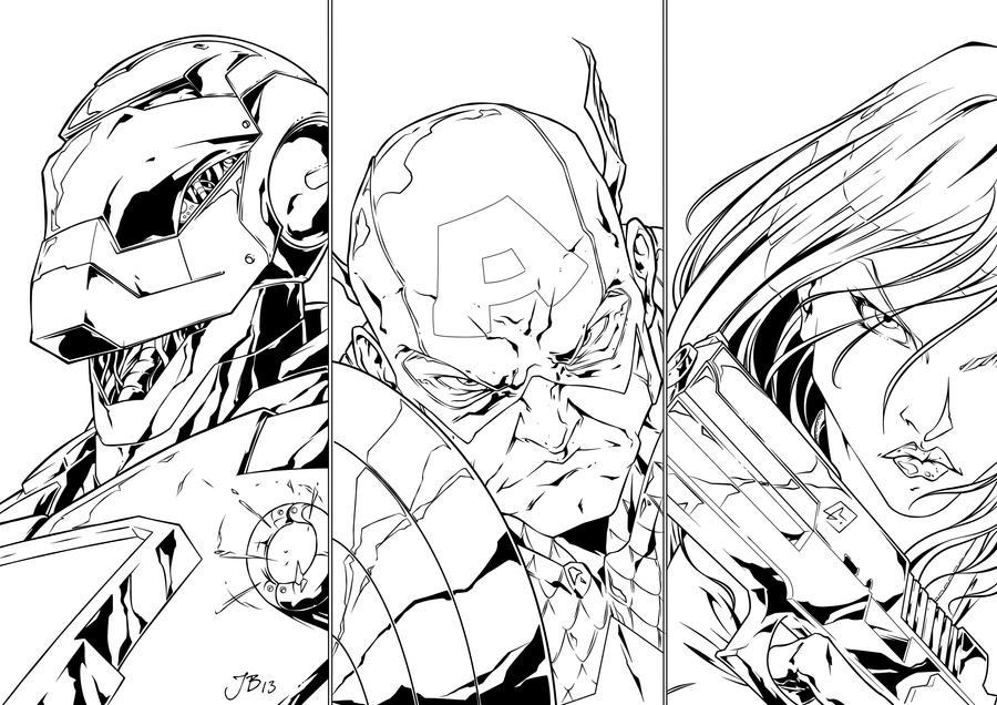 Avengers by Marvelmania - Inked. by JDB-Inks