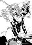 Black Cat and Spiderman_Marcio Abreu.