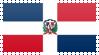 Dominican Republic Flag Stamp by VampireHelenaHarper