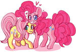 Pinkie n Flutter Hanging Out