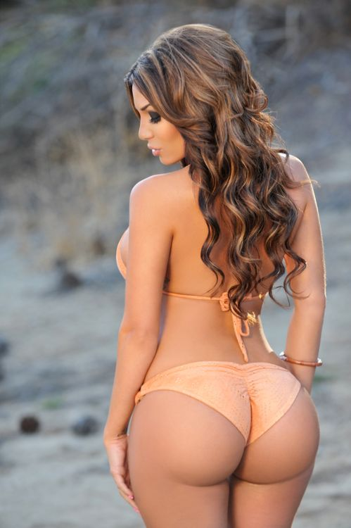 Hot girls in bikinis bending over, black ass getting fuck