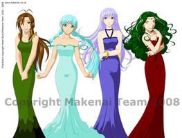 Makenai Character Designs - B by tigerangel