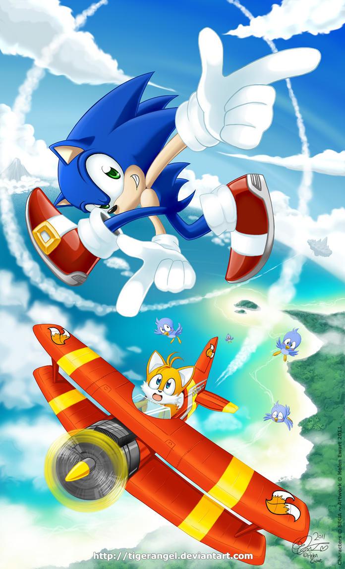 Sonic + Tails : Tornado Trickster by tigerangel