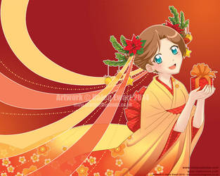Otaku Calendar Christmas Card 2014 by tigerangel