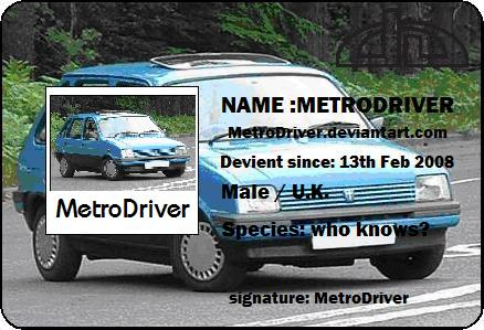 MetroDriver's Profile Picture