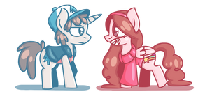 Gravity Falls + MLP - Ponified Mabel and Dipper
