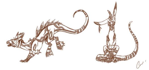 Shinerai Sketchs by KyriaDori