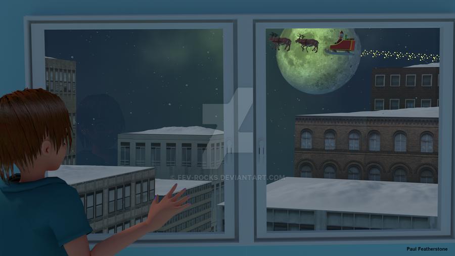 The night Chloe saw Santa by fev-rocks