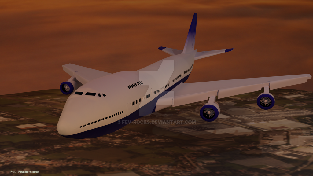 Boeing 747 by fev-rocks
