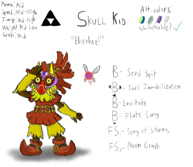 Skull Kid: Super Smash Bros. Character Possibility by Ryan-Knight on ...
