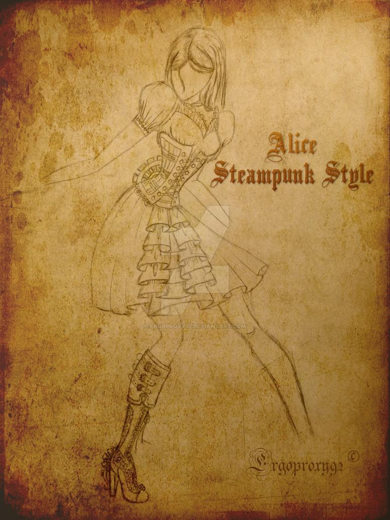 Alice Steampunk Dress by ergoproxy92