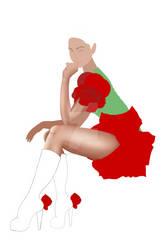 Alice rose dress WIP