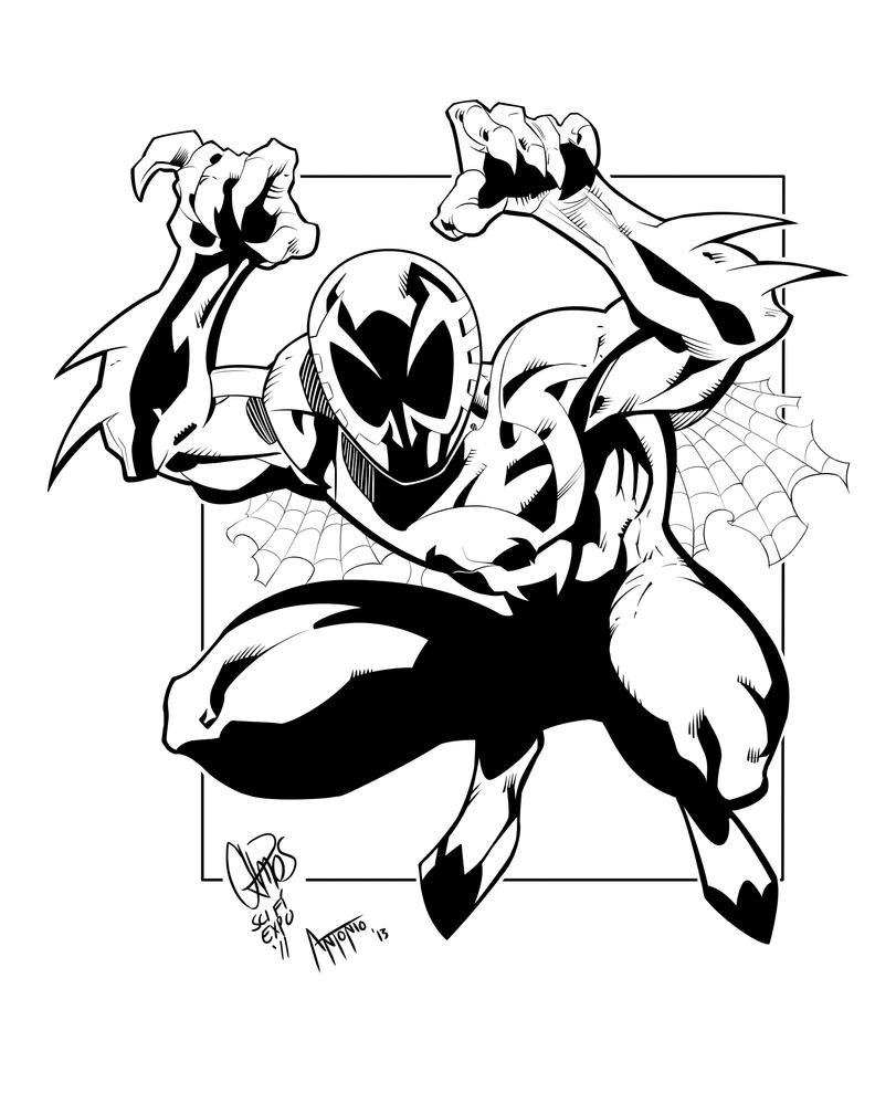 Spider man 2099 ink by djantonio on deviantart for Spider man 2099 coloring pages