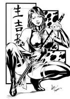 Psylocke III Ink by djantonio
