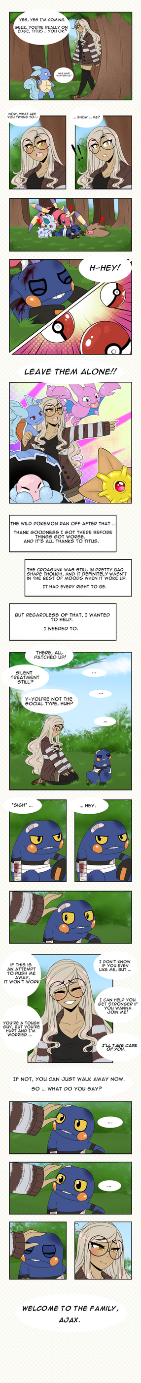 :PokemonTownship: Catching Croagunk by iLiekSkittlez