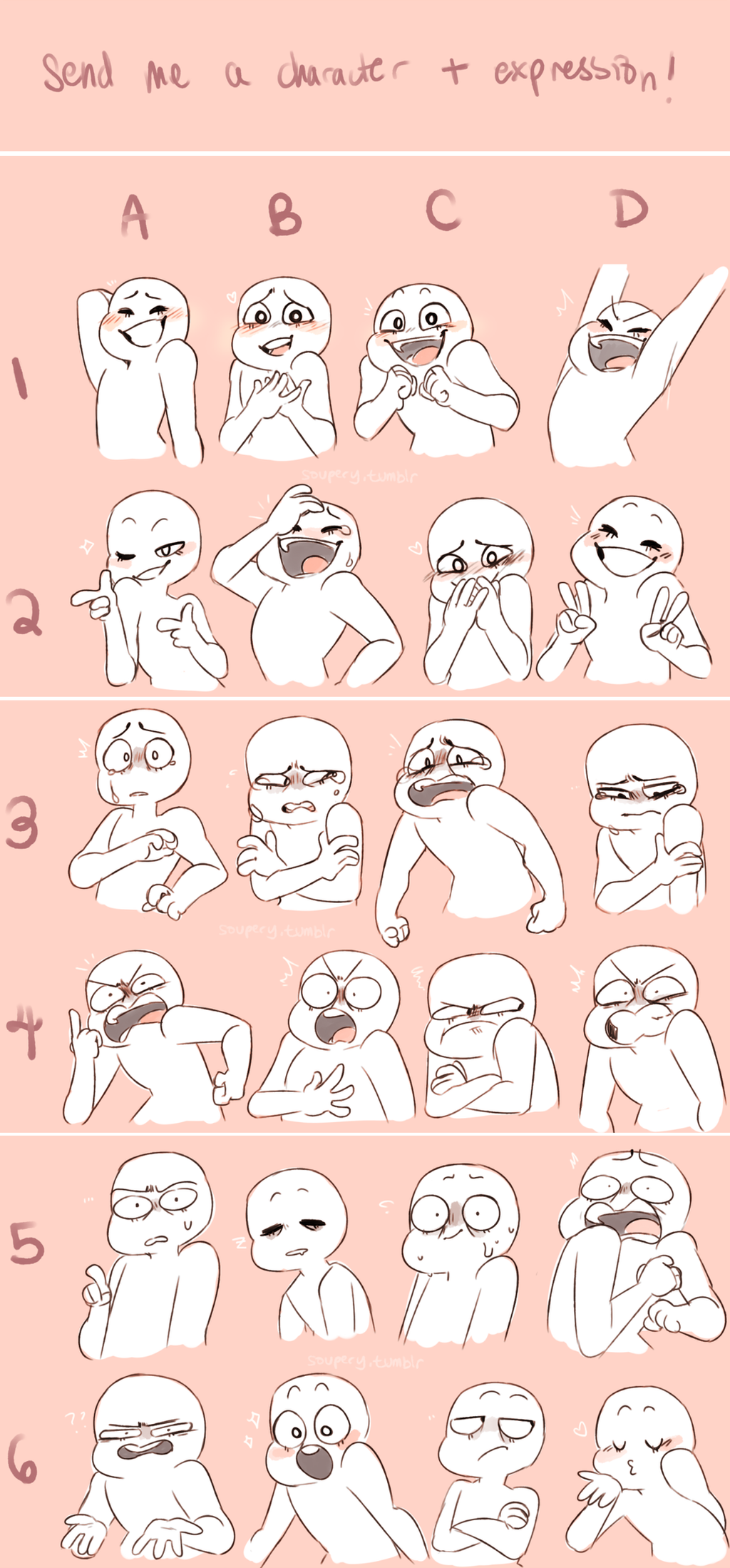Character Expression Meme! by iLiekSkittlez
