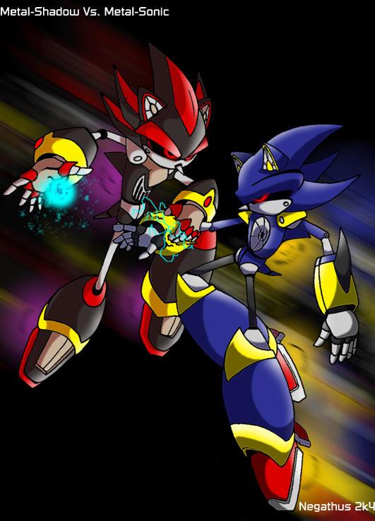 Metal-Shadow vs. Metal-Sonic by negathus on DeviantArt