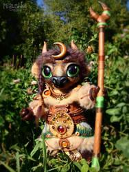 Tauren Druid Tier 8 Handmade Plushie - WoW by miaushka-workshop