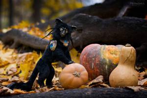 Creepy Cat Child of Darkness