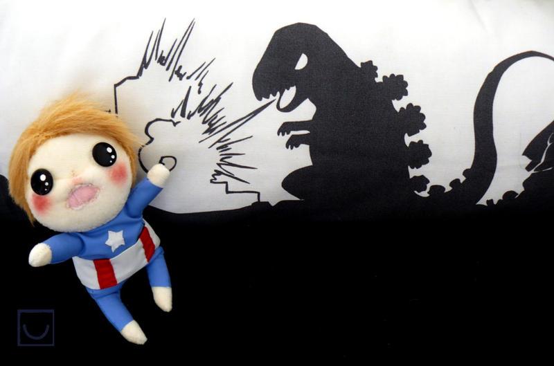 Oh noes, it's Godzilla! by Misandrie