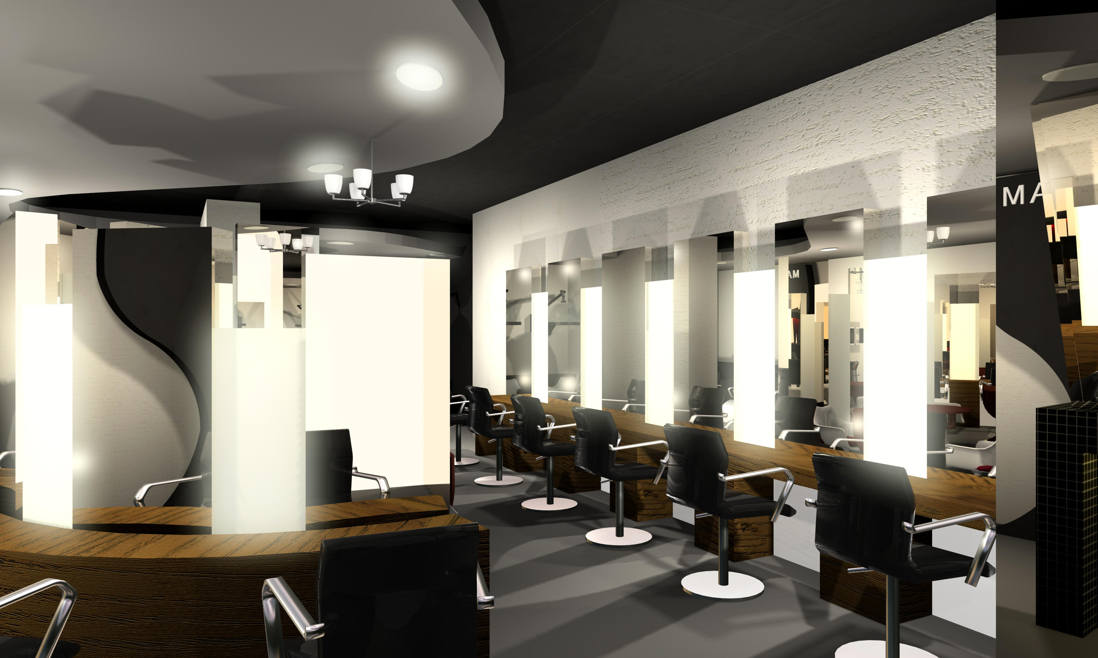 Interior view of salon by jianzwindz on deviantart for A step ahead salon