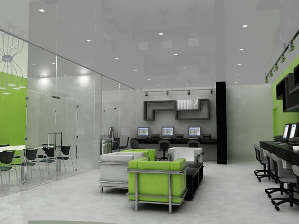 3d interior office by jianzwindz