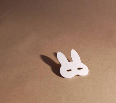 bunny mask brooch