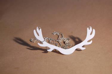 antler necklace.