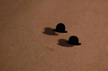 gentleman bowler hat studs.