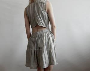 remade skirt dress.
