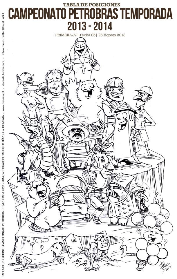TABLA DE POSICIONES CAMPEONATO PETROBRAS 2013-2014 by Matichavez30