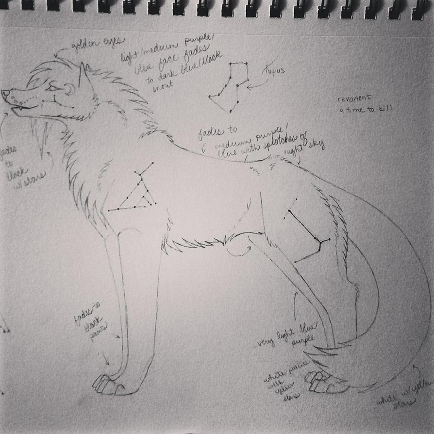 Lunar Lupine Sketch by heatwill