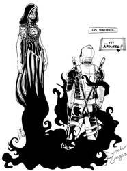 Deadpool X Death by suiseiusagi