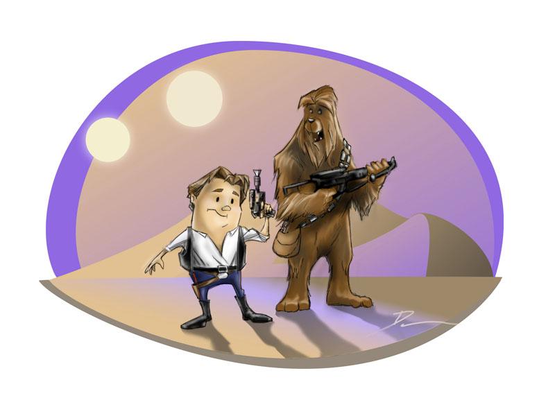Danteenies - Han and Chewie by Dantooine