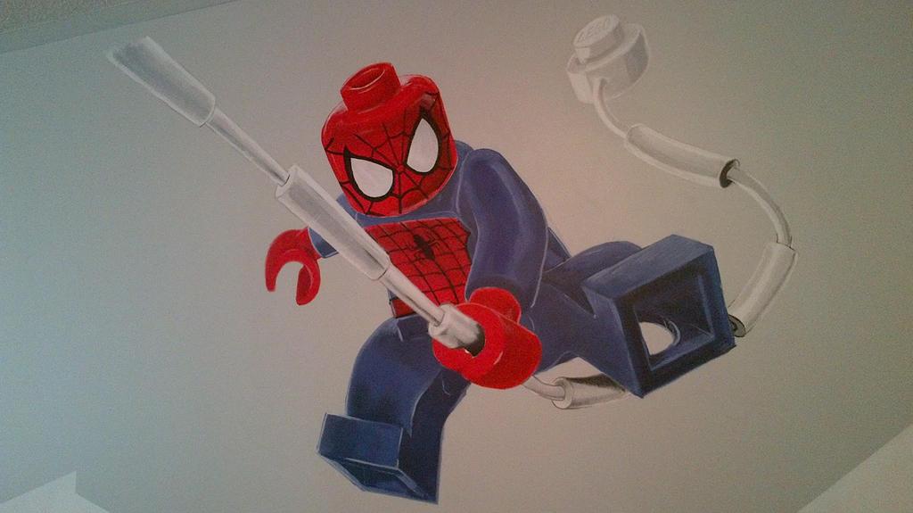 Wall mural lego spiderman by dantooine on deviantart - Poster mural spiderman ...